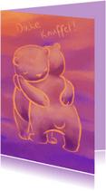Sterkte kaarten - Dikke beren knuffel