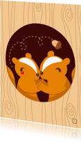 Dierenkaarten - Eekhoorntjes in Love