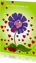 Sterkte kaarten - Een dikke kus voor jou