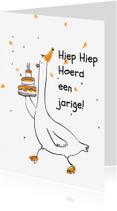Verjaardagskaarten - Een overheerlijke taart!