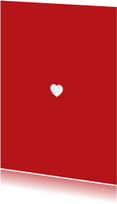 Valentijnskaarten - Eenzaam wit hart