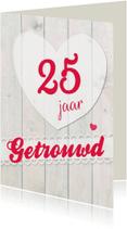 Felicitatiekaarten - Eigen getal jaar getrouwd-ByF