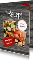 Menukaarten - Eigen recepten kaart - DH