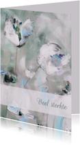 Condoleancekaarten - eigen tekst schilderij print