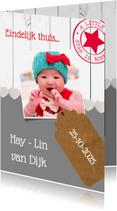 Geboortekaartjes - Eindelijk thuis, adoptie - DH