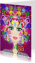 Carnavalskaarten - FACES Alaaf kleurrijk