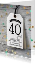 Uitnodigingen - Feestelijke uitnodiging verjaardag