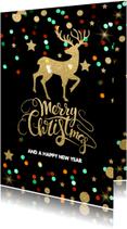 Zakelijke kerstkaarten - Feestelijke zakelijke kerstkaart  rendier - LO