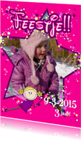 Kinderfeestjes - FEEstje FOTOkaart met vele sterren
