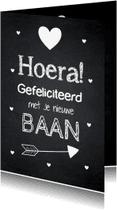 Felicitatiekaarten - Felicitatie baan typografie krijtbord - LB