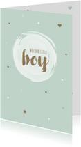 Felicitatiekaarten - Felicitatie - Cirkel, watercolour boy