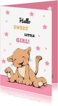 Felicitatiekaarten - Felicitatie dochter leeuwtje IH
