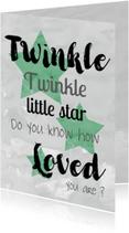 Felicitatiekaarten - Felicitatie geboorte jongen twinkle