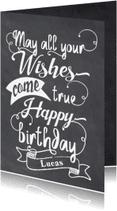 Verjaardagskaarten - Felicitatie handlettering - LO