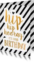 Verjaardagskaarten - Felicitatie -Hip hip hooray
