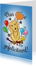 Verjaardagskaarten - Felicitatie hondenliefhebber