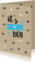 Felicitatiekaarten - Felicitatie jongen kraft sterren