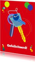Felicitatiekaarten - Felicitatie met sleutels nieuwe woning