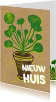 Felicitatiekaarten - Felicitatie nieuw huis pannenkoekplant