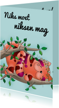 Felicitatiekaarten - Felicitatie pensioen slapende kat - SK