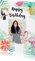 Verjaardagskaarten - Felicitatie verjaardag tropisch - BK