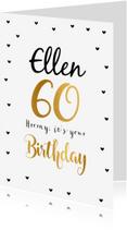 Verjaardagskaarten - Felicitatie Verjaardagskaart 60 goud