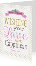 Felicitatiekaarten - Felicitatiekaart Happiness