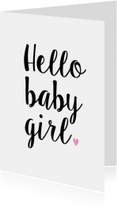 Felicitatiekaarten - Felicitatiekaart Hello Baby Girl