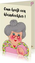 Felicitatiekaarten - Felicitatiekaart kleindochter PA