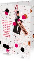 Felicitatiekaart meisje confetti label