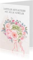 Felicitatiekaarten - Felicitatiekaart romantisch boeket
