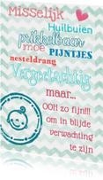 Felicitatiekaarten - Felicitatiekaart zwanger grappig