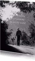 Spreukenkaarten - For the world-isf