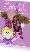 Kinderfeestjes - FOTOkaart FEEstje