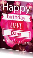 Verjaardagskaarten - Fotokaart met eigen teksten