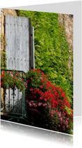 Bloemenkaarten - Frans balkon