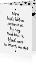 Fryske kaartsjes - Fryske kaart - foar de leafste broer