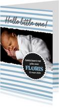 Felicitatiekaarten - Geboorte - felicitatie jongen met foto
