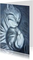 Felicitatiekaarten - Geboorte van twee kattenkinderen