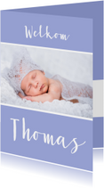 Geboortekaartjes - Geboortecollage flexibele achtergrond