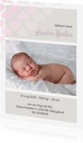 Geboortekaartjes - Geboortekaart enkel - meisje