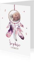 Geboortekaartjes - Geboortekaart meisje dromenvanger