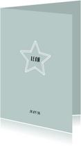 Geboortekaartjes - Geboortekaartje jongen ster eenvoudig strak