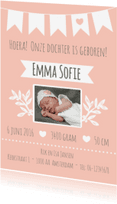Geboortekaartjes - Geboortekaartje Meisje - WW