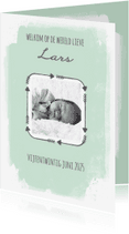 Geboortekaartjes - Geboortekaartje Pijlen, aanpasbare kleur - WW