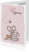 Geboortekaartjes - Geboortekaartje Saar LFZ