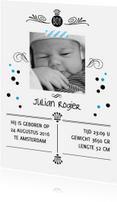 Geboortekaartjes - Geboortekaartje stoer confetti