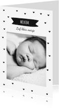 Geboortekaartjes - Geboortekaartje van harte hip