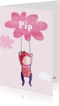 Geboortekaartjes - geboortekaartje wolk Pip