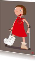 Beterschapskaarten - Gebroken beentje